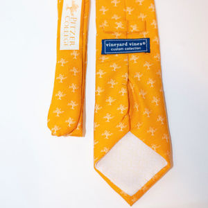 Vineyard Vines Custom Yellow Pitzer College tie